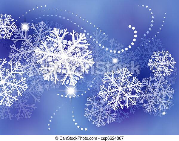 hiver, fond - csp6624867