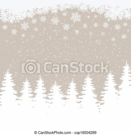 hiver, fond, neigeux - csp16504289