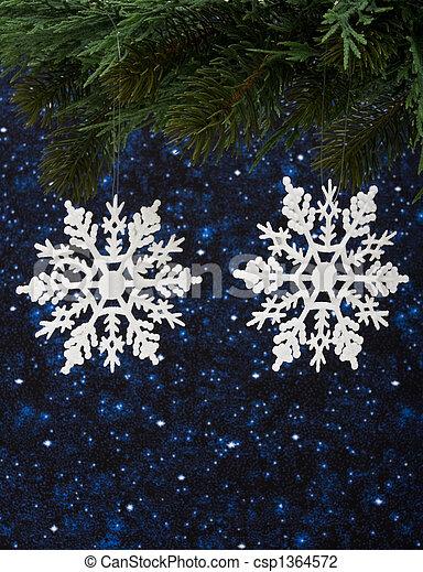 hiver, fond - csp1364572