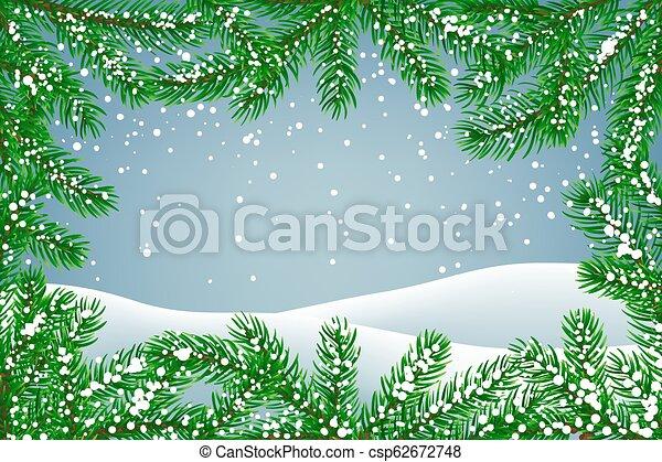 hiver, fond - csp62672748