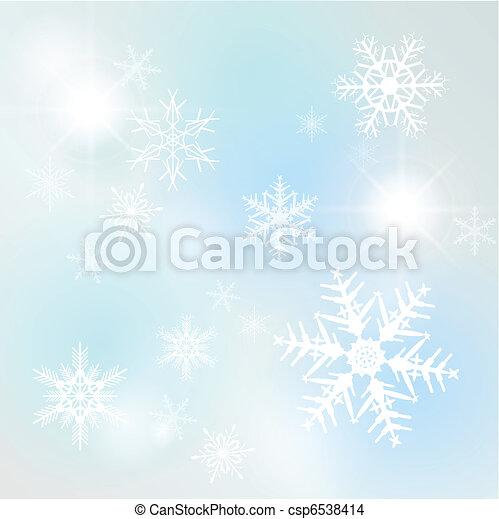 hiver, fond - csp6538414