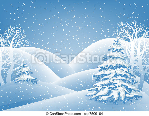 hiver, fond - csp7509104