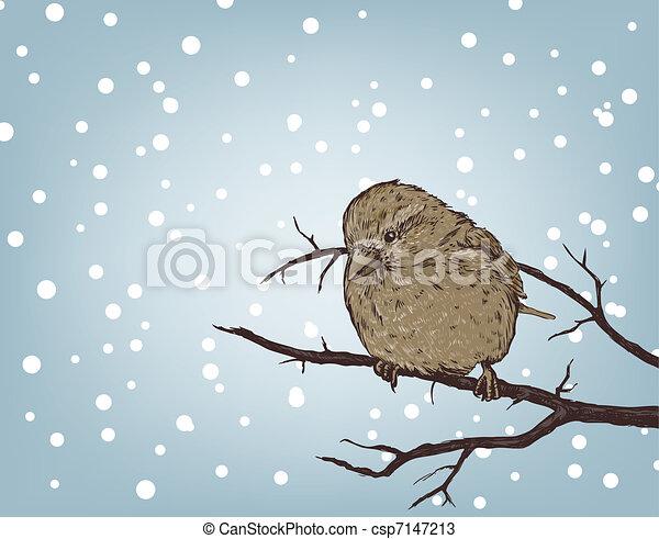 hiver, fond - csp7147213