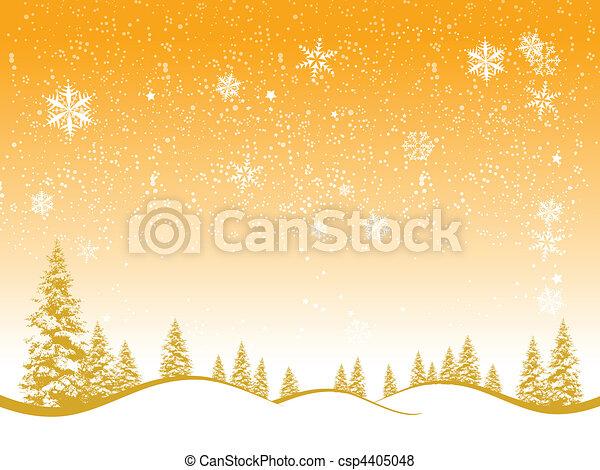 hiver, noël, forêt, conception, fond, ton - csp4405048
