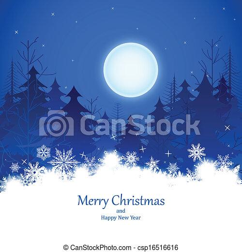 hiver, noël, nuit - csp16516616