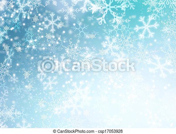 hiver, résumé, neige, arrière-plan., vacances, noël, toile de fond - csp17053928