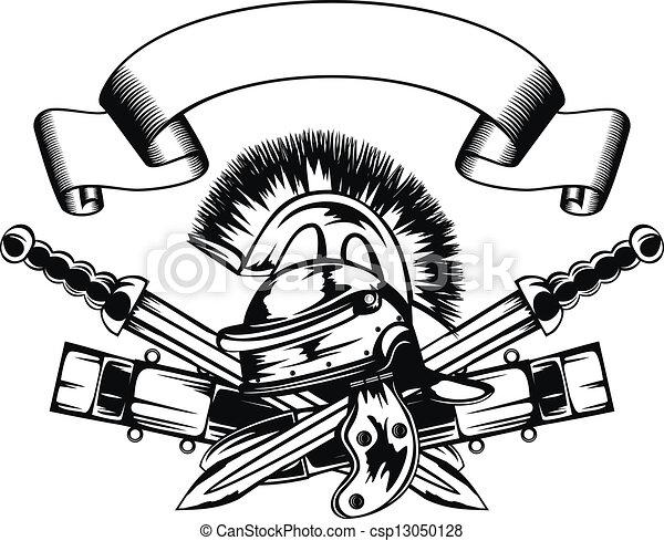 hjälm, svärd - csp13050128