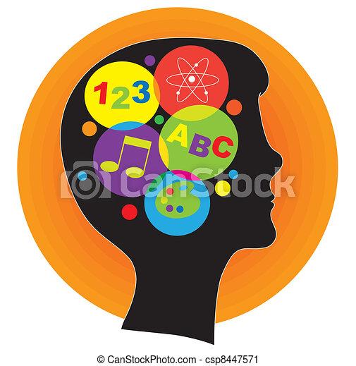 hjärna, barn - csp8447571