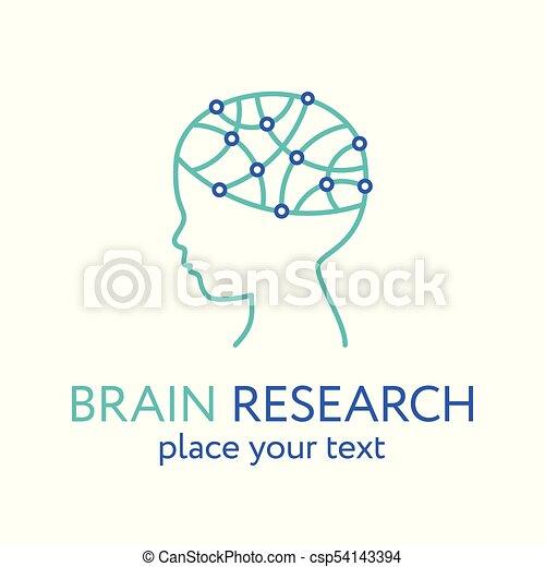 hjärna, icon., forska, huvud, barn, begrepp - csp54143394