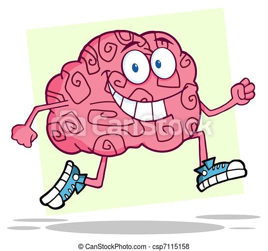 hjärna, spring - csp7115158
