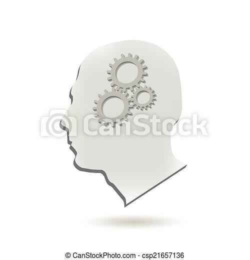 hjärna, utrustar - csp21657136