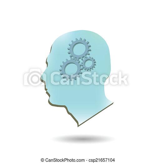 hjärna, utrustar - csp21657104