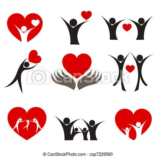hjärta, begreppen - csp7229560