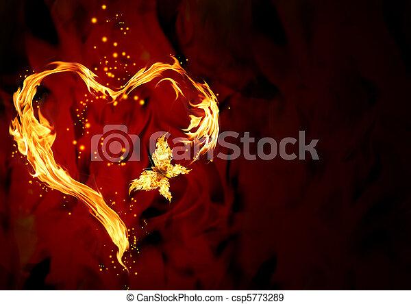 hjärta, brännande - csp5773289