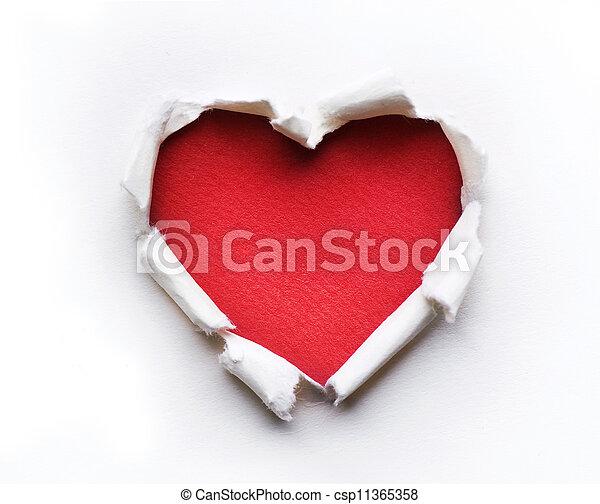 hjärta, design, kort, valentinbrev - csp11365358