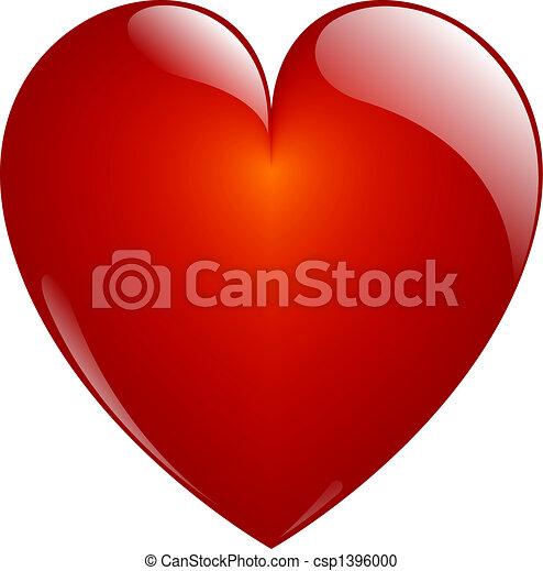 hjärta, glasaktig - csp1396000