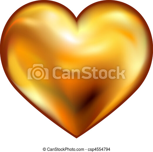 hjärta, guld - csp4554794