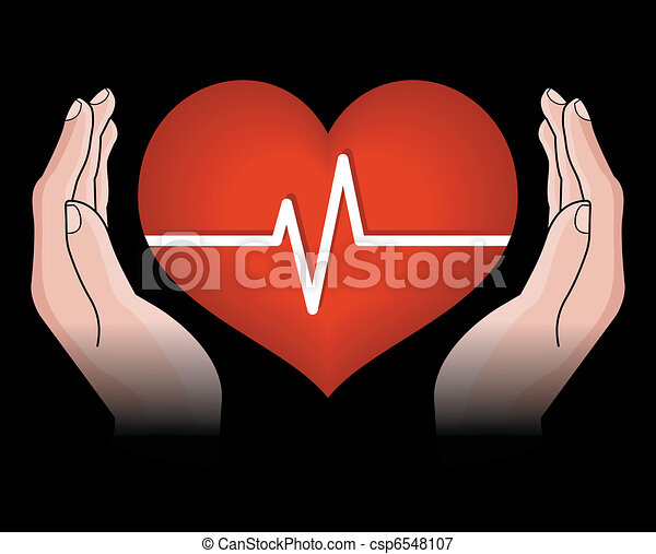 hjärta, människa lämnar - csp6548107