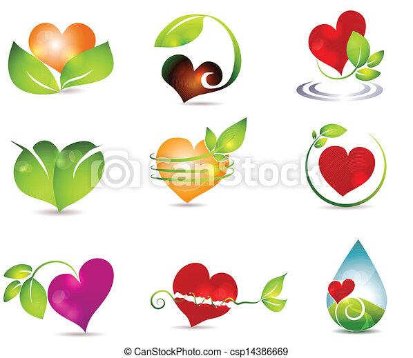 hjärta, natur - csp14386669