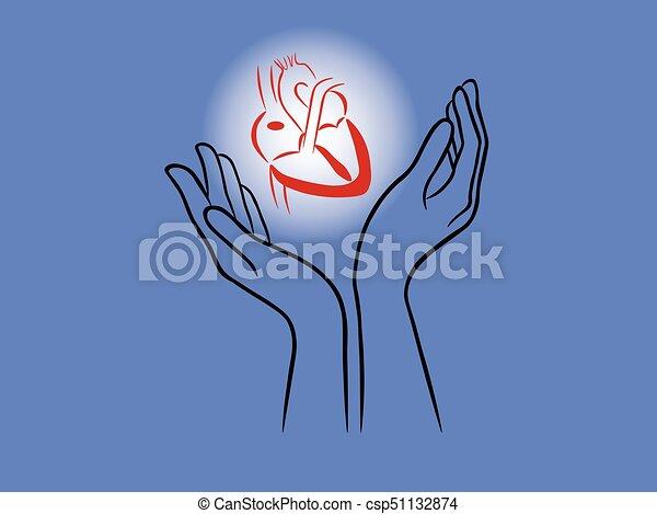 hjärta, räcker - csp51132874