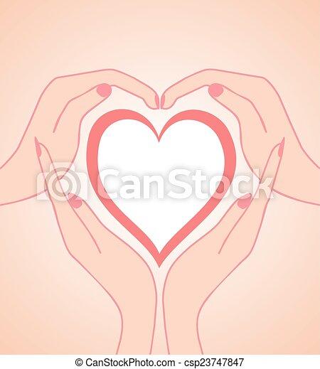 hjärta, räcker - csp23747847