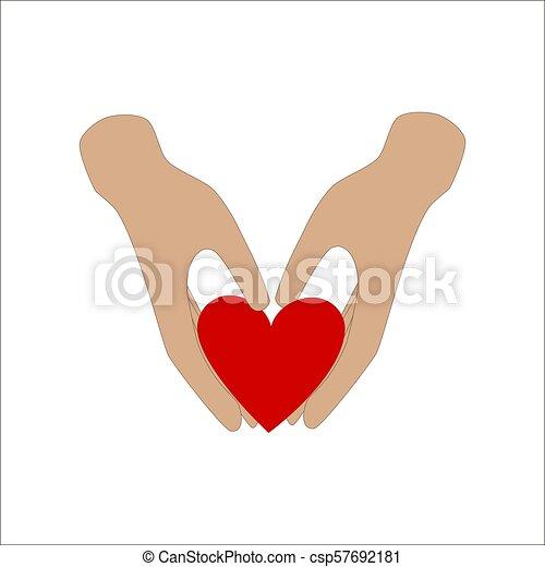 hjärta, räcker - csp57692181