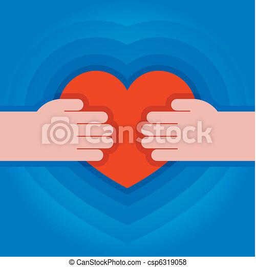 hjärta, räcker - csp6319058