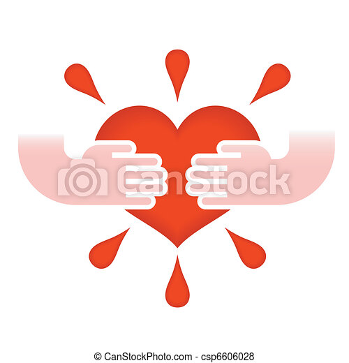 hjärta, räcker - csp6606028