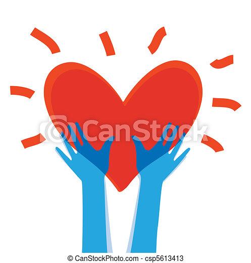 hjärta, räcker - csp5613413