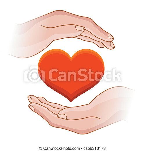 hjärta, räcker - csp6318173