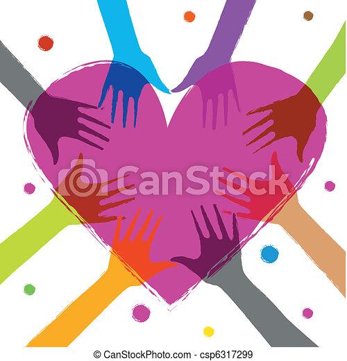 hjärta, räcker - csp6317299