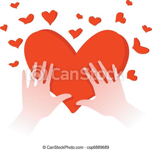 hjärta, räcker - csp6889689