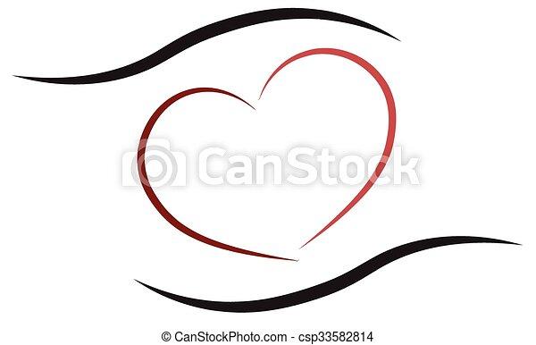 hjärta, räcker - csp33582814
