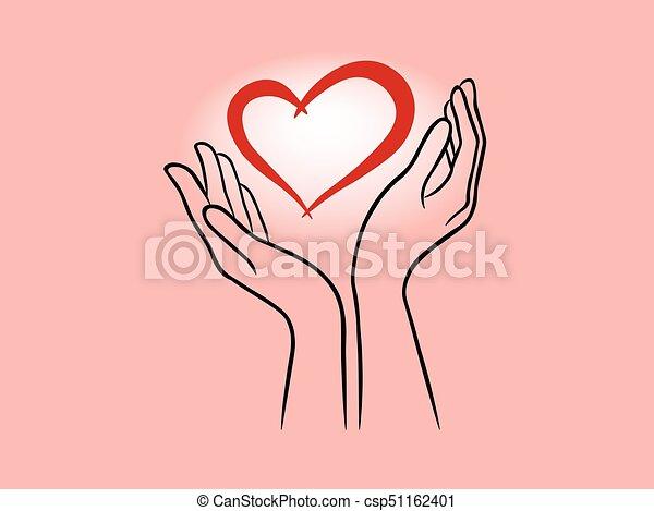 hjärta, räcker - csp51162401