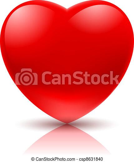 hjärta, röd - csp8631840