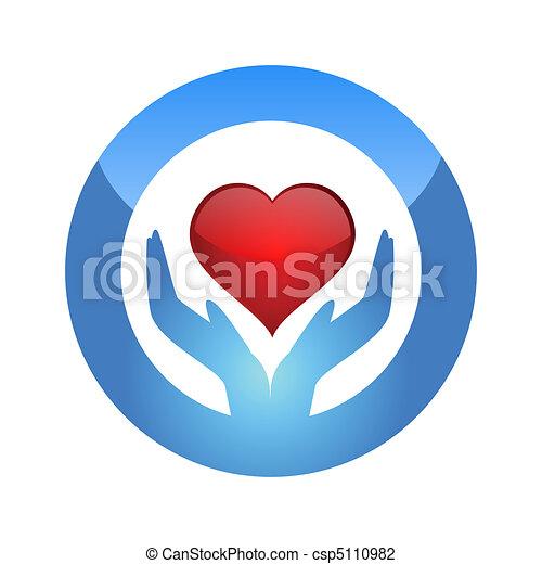 hjärta, skydda - csp5110982