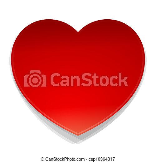 hjärta, symbol, vektor - csp10364317