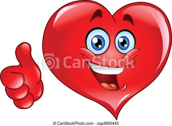 hjärta, tumme uppe - csp4800443