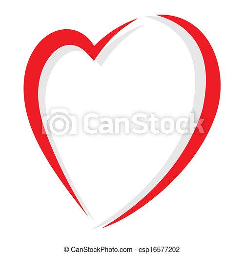 hjärta, vektor, röd - csp16577202