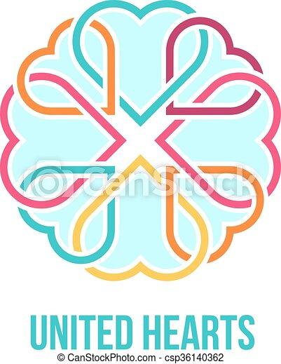 hjärtan, begrepp, enigt - csp36140362