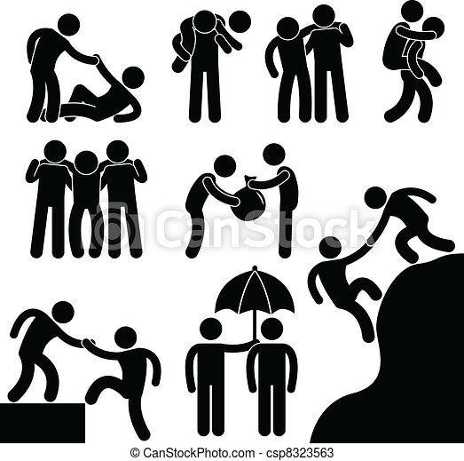hjælper, anden, firma, kammerat, hver - csp8323563