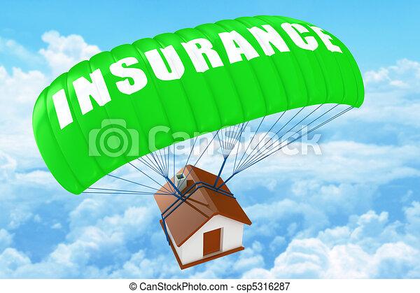 hjem, begreb, forsikring - csp5316287