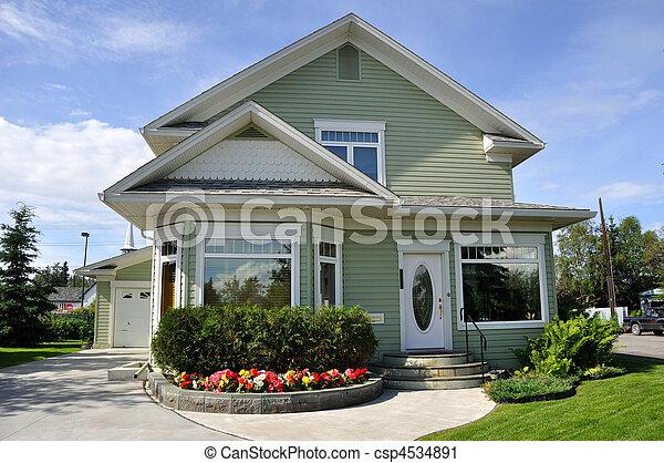 hjem, forstads - csp4534891