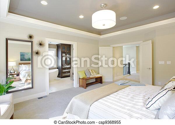 Hjem, luksus, soveværelse. Hjem, soveværelse, nye stock billeder ...