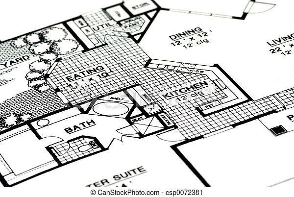 hjem, planer - csp0072381