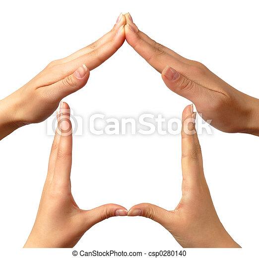 hjem, symbol - csp0280140
