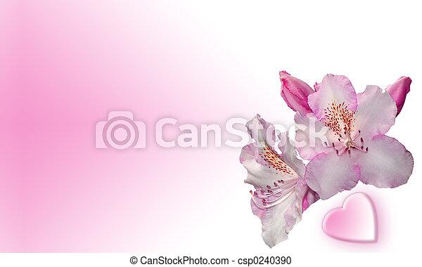 hjerte, blomster - csp0240390