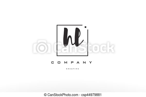 Hl H L Hand Writing Letter Company Logo Icon Design Hl H L Hand