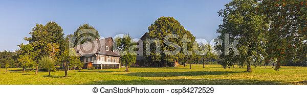 hloupý vilka, timbered, tradiční, ubytovat se, čech, - - csp84272529