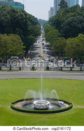 Ho Chi Minh City street view - csp2161172